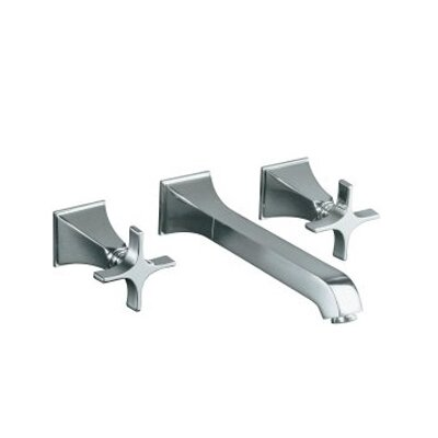 Kohler Memoirs Wall-Mount Lavatory Faucet Trim with Stately Design and Cross Handles, Valve Not Included