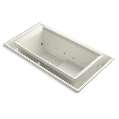 "Kohler Sok 75"" X 41"" Drop-In Effervescence Bath with Chromatherapy and Left-Hand Drain"