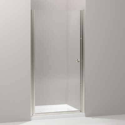 "Kohler Fluence Pivot Shower Door, 65-1/2"" H X 37-1/2 - 39"" W, with 1/4"" Thick Crystal Clear Glass"