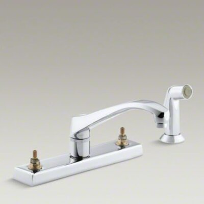Triton Kitchen Faucet with Escutcheon and Sidespray, Requires Handles