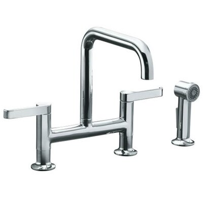 Kohler Torq Deck Mount Two Handle Widespread Bridge Kitchen Faucet