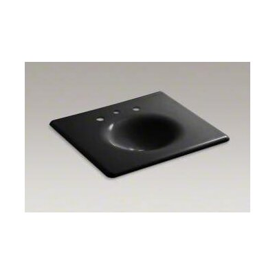 "Kohler Iron/Impressions 25"" Cast Iron One-Piece Surface and Integrated Lavatory with 8"" Centers"