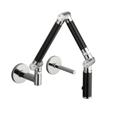 Karbon Wall-Mount Kitchen Faucet with Black Tube