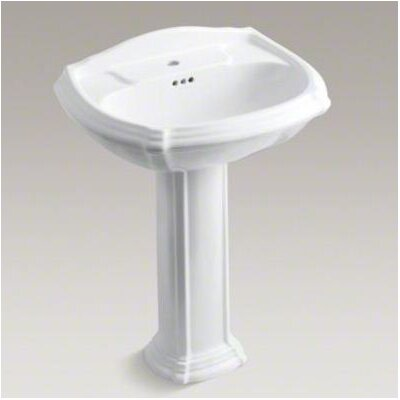 Portrait Pedestal Lavatory with Single-Hole Drilling - 2221-1
