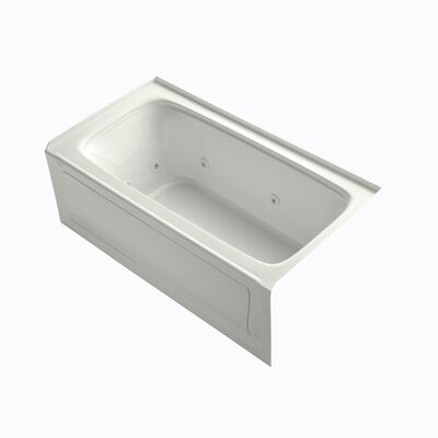 "Kohler Bancroft 60"" X 32"" Alcove Whirlpool Bath with Integral Apron, Tile Flange and Right-Hand Drain"