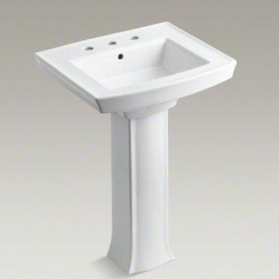 Kohler Archer Pedestal Bathroom Sink with 8