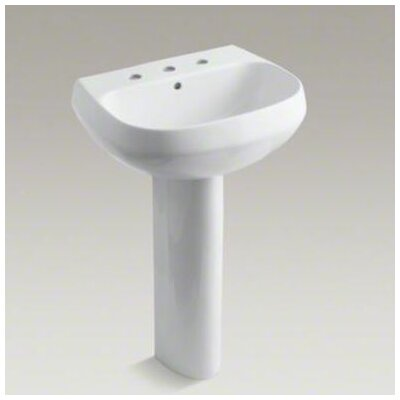 "Kohler Wellworth Pedestal Lavatory with 8"" Centers"