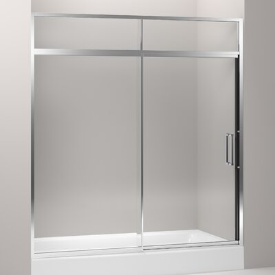 "Kohler Lattis Pivot Shower Door with Sliding Steam Transom, 89-1/2"" H X 69 - 72"" W, with 3/8"" Thick Crystal Clear Glass"