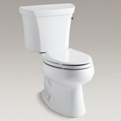 Kohler Wellworth Two-Piece Elongated 1.28 Gpf Toilet with Class Five Flush Technology, Right-Hand Trip Lever and Tank Cover Locks