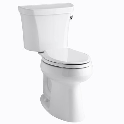 Kohler Highline Comfort Height Two-Piece Elongated 1.28 Gpf Toilet with Class Five Flush Technology, Right-Hand Trip Lever and Tank Cover Locks