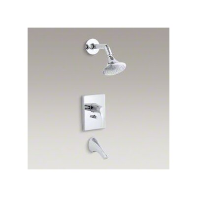 Kohler Symbol Rite-Temp Pressure-Balancing Bath and Shower Faucet Trim with Push-Button Diverter, Valve Not Included