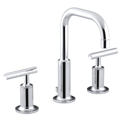 Kohler Purist Widespread Lavatory Faucet with Low Gooseneck Spout and Low Lever Handles
