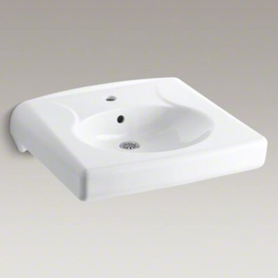 Kohler Brenham Wall-Mount Lavatory with Single-Hole Drilling, Less Soap Dispenser Hole