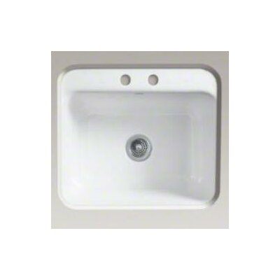 Glen Falls Undercounter Utility Sink with Two-Hole Faucet Drilling