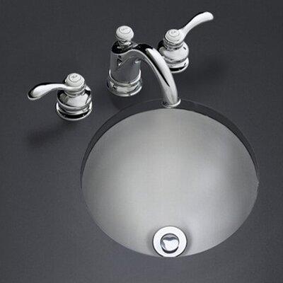 Bolero Round Self-Rimming/Undercounter Lavatory with Satin Finish - 2610-SU