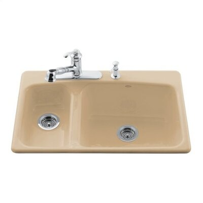 "Kohler Lakefield 33"" x 22"" Self Rimming Kitchen Sink"