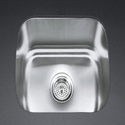 "Kohler Undertone 18-1/2"" X 15-3/4"" X 8"" Under-Mount Single-Bowl Kitchen Sink"