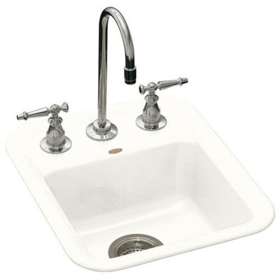 "Kohler Aperitif 16"" x 19"" x 7.63"" Self Rimming Entertainment Kitchen Sink"