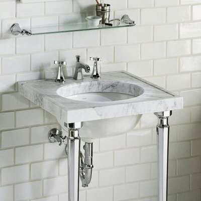 Kathryn Marble Console Bathroom Sink Set - K-3023-WH