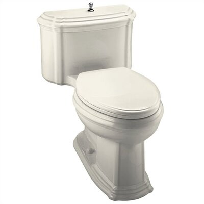 Kohler Portrait Comfort Height One-Piece Elongated 1.6 Gpf Toilet with Class Five Flush Technology, Lift Knob Actuator and Glenbury Quiet-Close Seat with Quick Release Functionalty