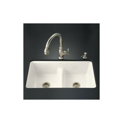 "Kohler Deerfield 33"" x 22"" Smart Divide Undercounter Kitchen Sink"