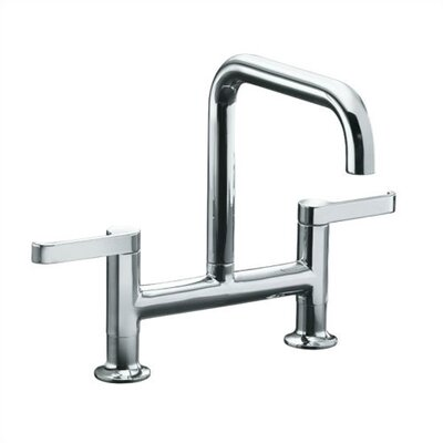 Torq Deck Mount Kit Double Handle Widespread Bridge Faucet
