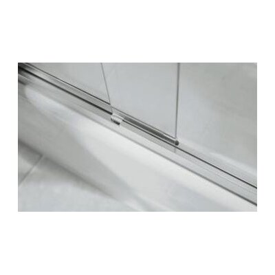 "Kohler Fluence Sliding Bath Door, 55-3/4"" H X 56-5/8 - 59-5/8"" W, with 1/4"" Thick Falling Lines Glass"