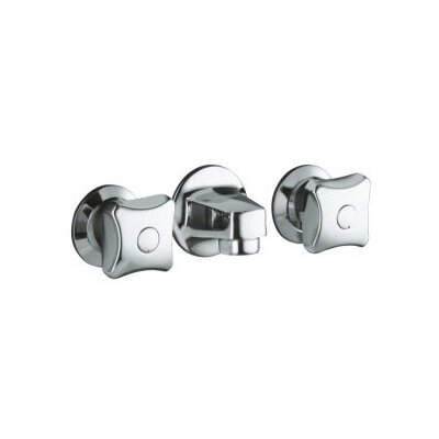 Kohler Triton Ada Compliant Wall Mounted Bathroom Faucet with Double Cross Handles