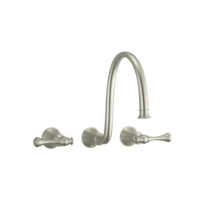 Revival Wall Mounted Faucet with Double Lever Handles - K-T16107-4A-BN