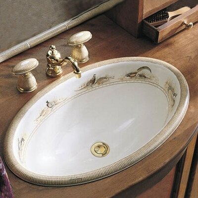 Kohler Pheasant Design On Vintage Self-Rimming Lavatory