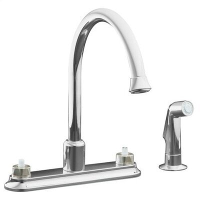 Kohler Coralais Decorator Two Handle Centerset Kitchen Faucet with Handle Options