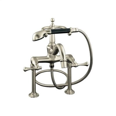 Kohler Revival Roman Bath Faucet with Hand Shower, Diverter Spout and Traditional Lever Handles