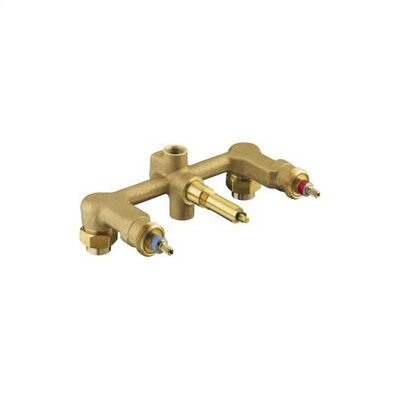 "Kohler 1/2"" Ceramic Wall-Mount 3-Handle Valve System"