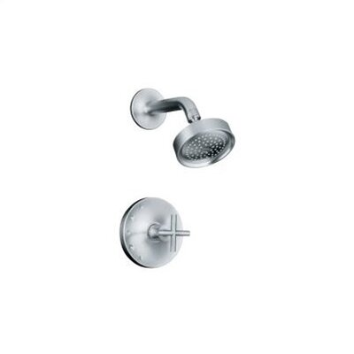 Kohler Purist Rite-Temp Pressure-Balancing Shower Faucet Trim with Cross Handle, Valve Not Included