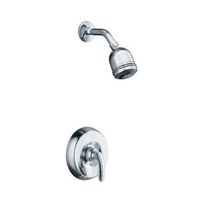 Kohler Coralais Shower Mixing Valve Trim with Lever Handle and 3-Way MasterShower Relaxing Shower Head, Arm and Flange