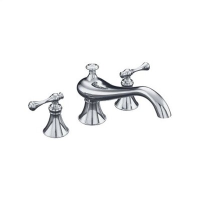 Kohler Revival Double Handle Deck Mount Tub Only Faucet Trim Traditional Lever Handle