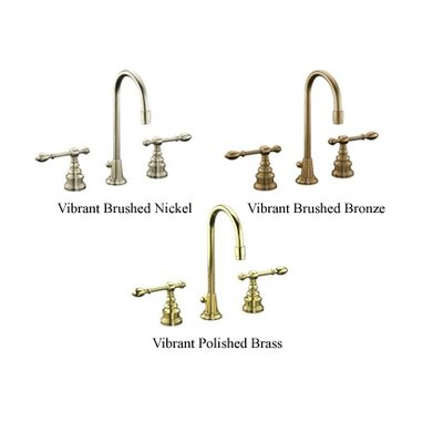 Iv Georges Brass Widespread Bathroom Faucet with Lever Handles and High Country Swing Spout - ...