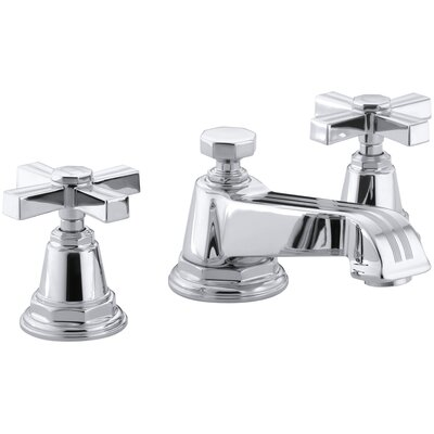 Pinstripe Widespread Lavatory Faucet with Cross Handles - 13132-3B