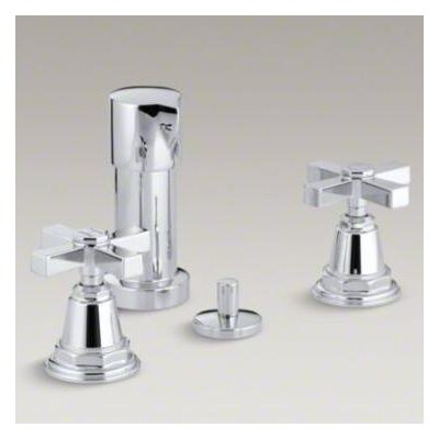Pinstripe Pure Bidet Faucet with Cross Handles