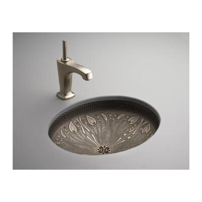 Kohler Nature's Chemistry Undercounter Bathroom Sink in Medium Patina