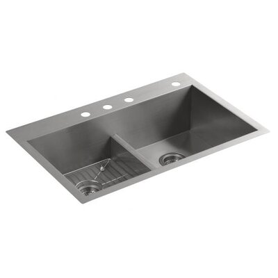 Kohler Vault Smart Divide Double Equal Sink