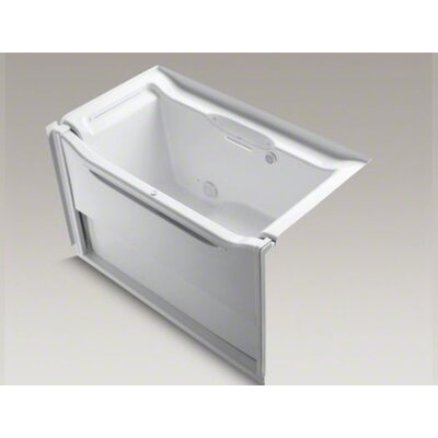 kohler elevance 60 x 32 alcove bubble massage walk in tub with le