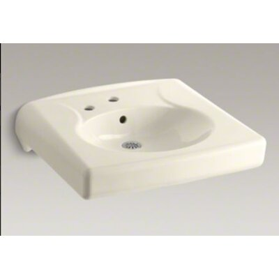 Brenham Wall-Mounted or Concealed Carrier Arm Mounted Commercial Bathroom Sink with Single ...