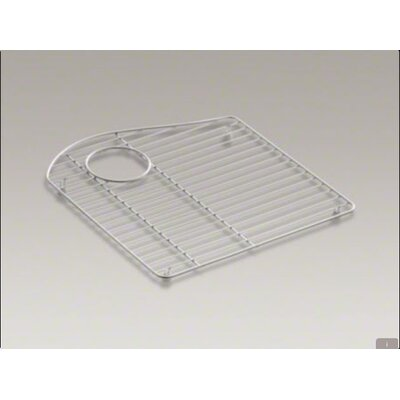 Kohler Lawnfield Stainless Steel Bowl Rack, 15-13/32&quot; x 16-1/2&quot;, For Left-Hand Bowl