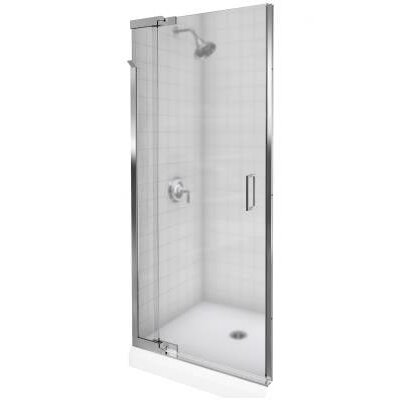 "Kohler Purist Pivot Shower Door, 72"" H X 39 - 42"" W, with 1/4"" Thick Frosted Glass"