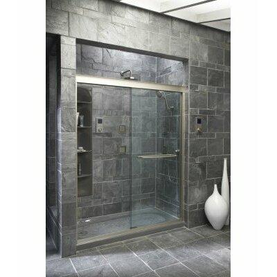 Fluence Sliding Shower Door 75 H X 56 5 8 59 5 8 W