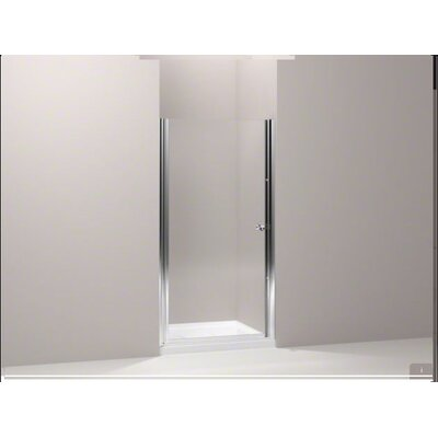 "Kohler Fluence Frameless PIVot Shower Door with Crystal Clear Glass, 27.25"" - 28.75"" x 65.5"""