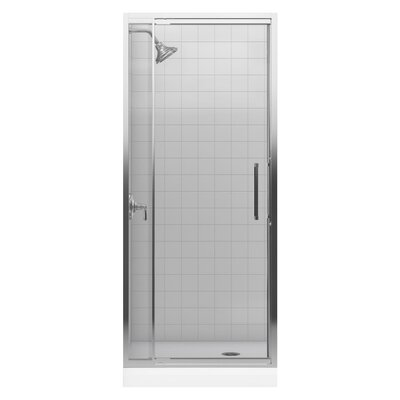 "Kohler Lattis Semi-Frameless Pivot Shower Door with 0.25"" Thick Crystal Clear Glass, 30"" - 33"" x 76"""