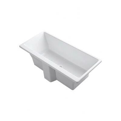 Kohler Reve 66-15/16&quot; x 31.5&quot; Freestanding Bath with Brilliant Blanc Base