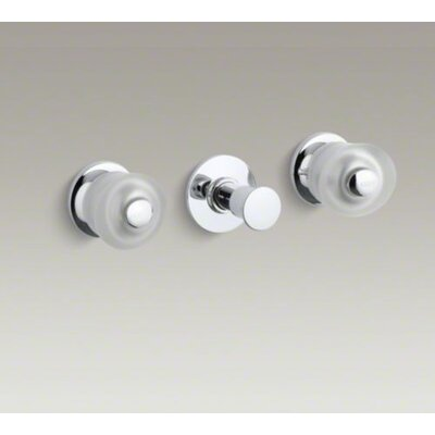 Kohler Coralais Three-Handle Bath and Shower Trim Set with Sculptured Acrylic Handles, Valve Not included